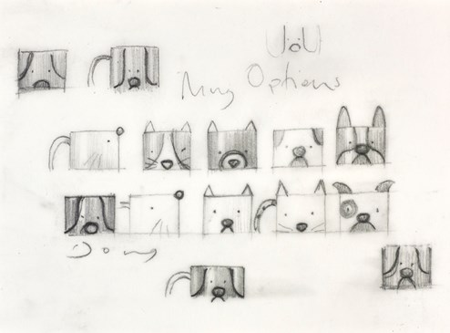 Tea Break Sketch II by Doug Hyde - Original Drawing on Mounted Paper